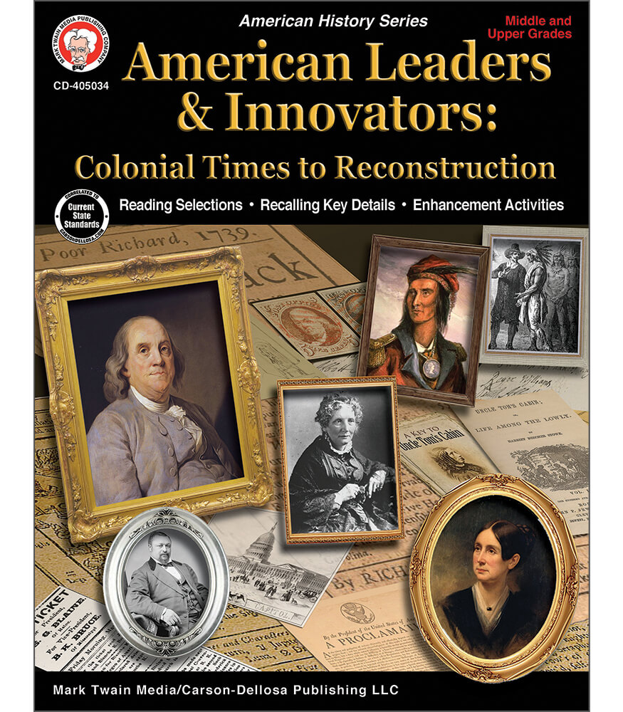 American Leaders & Innovators: Colonial Times to Reconstruction Workbook Product Image