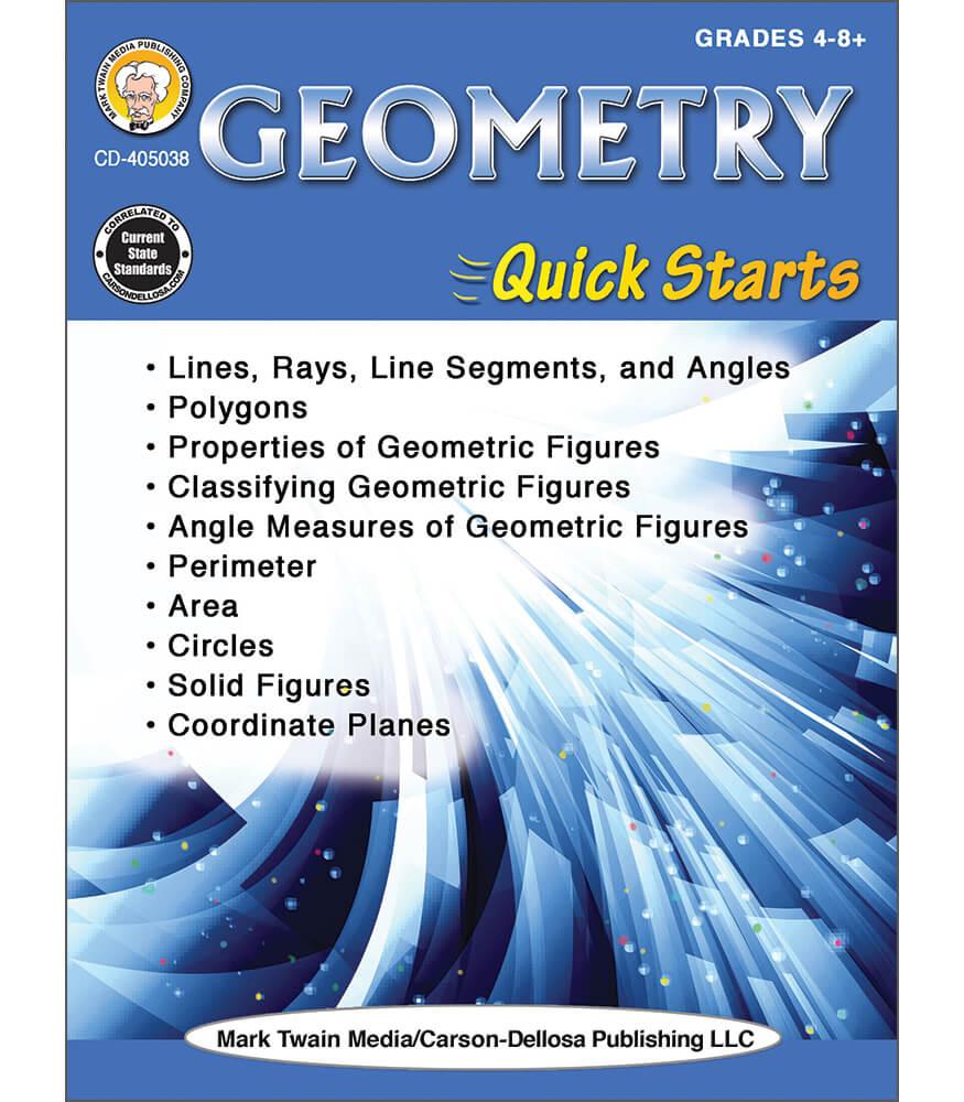 Geometry Quick Starts Workbook Product Image