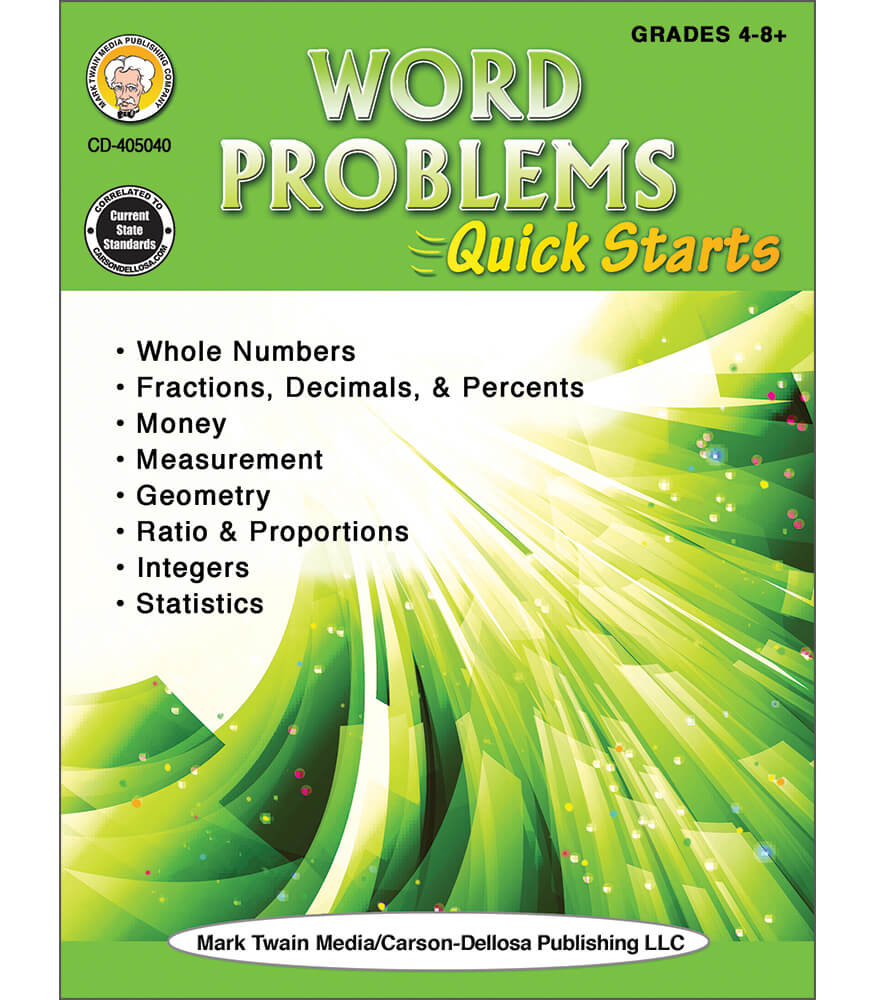 Word Problems Quick Starts Workbook Product Image