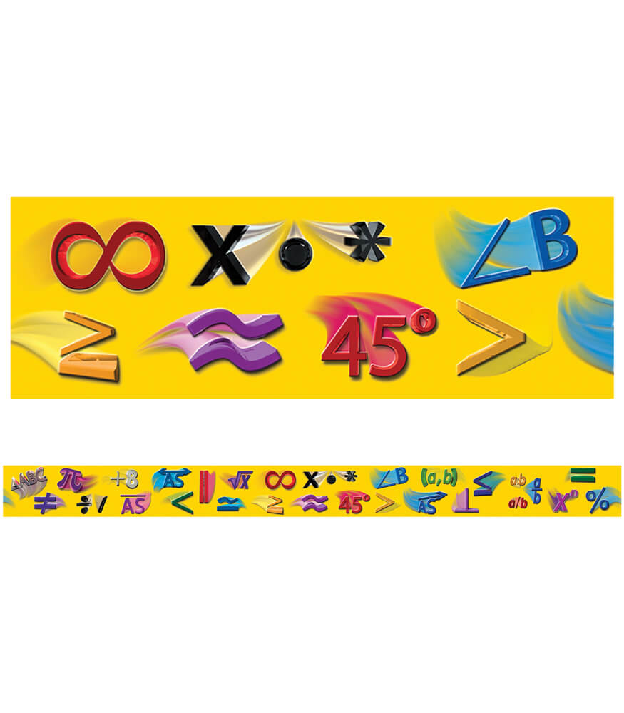 Math Symbols Straight Borders Product Image