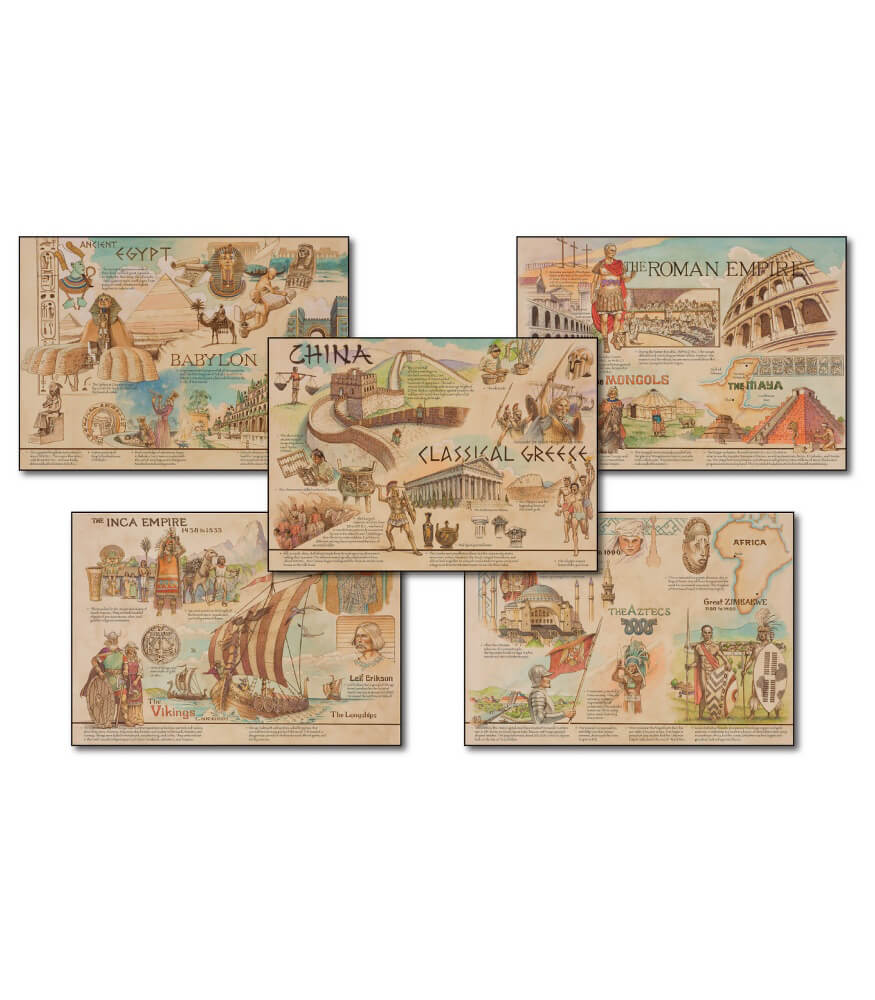 Ancient Civilizations and Cultures Topper Bulletin Board Set Product Image