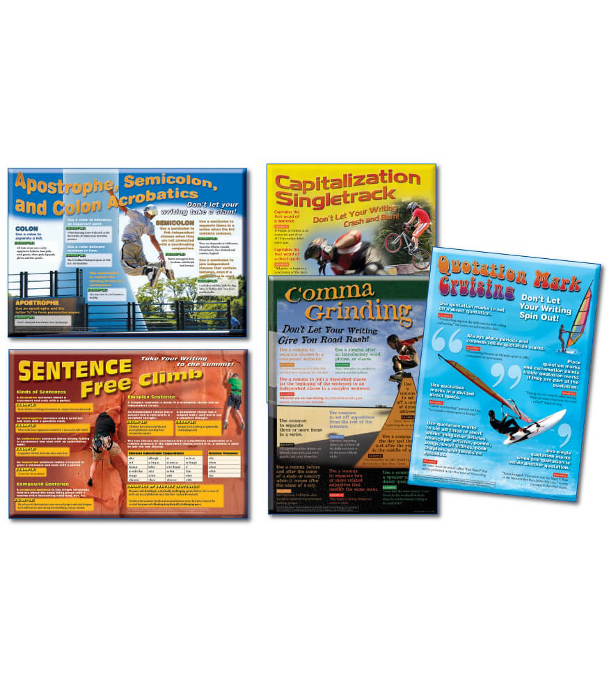 Language Arts: Capitalization and Punctuation Bulletin Board Set Product Image