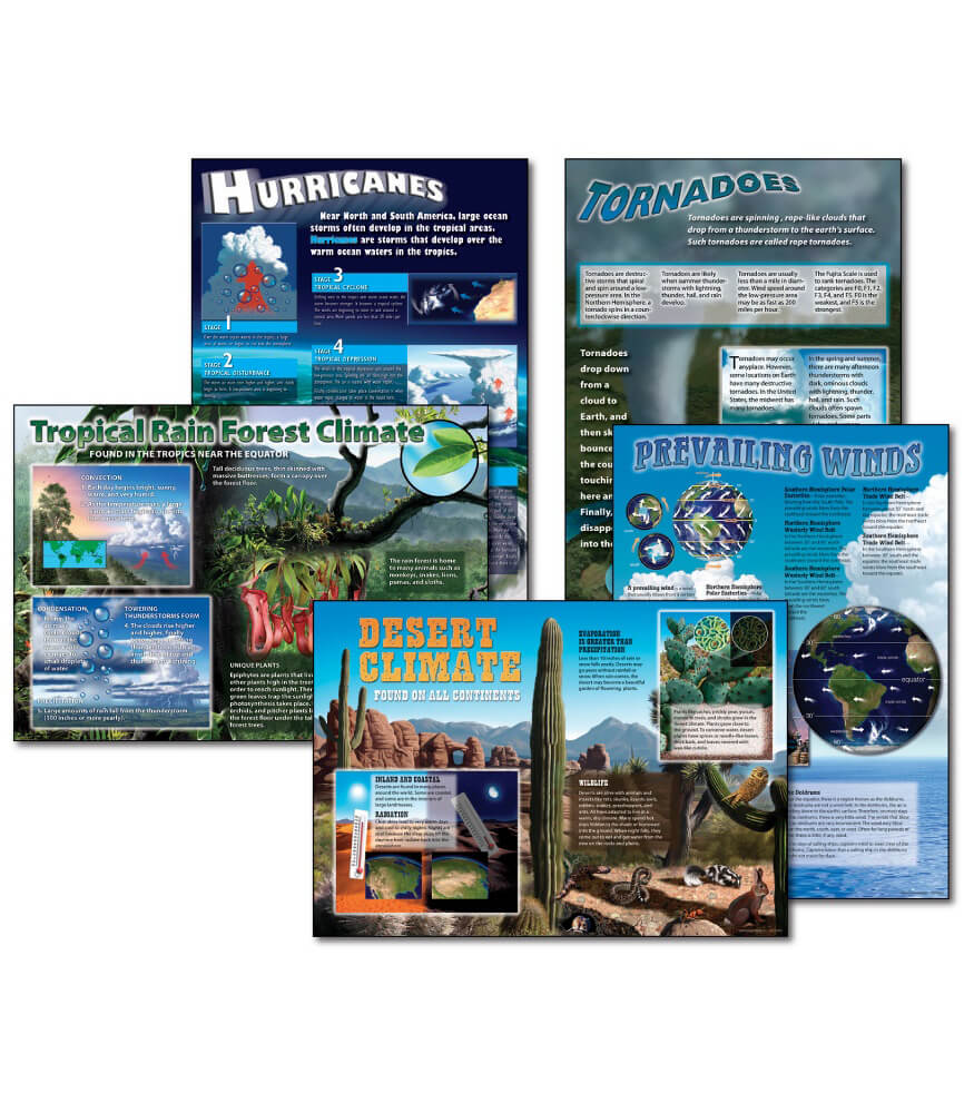 Science: Extreme Climates and Weather Bulletin Board Set Product Image