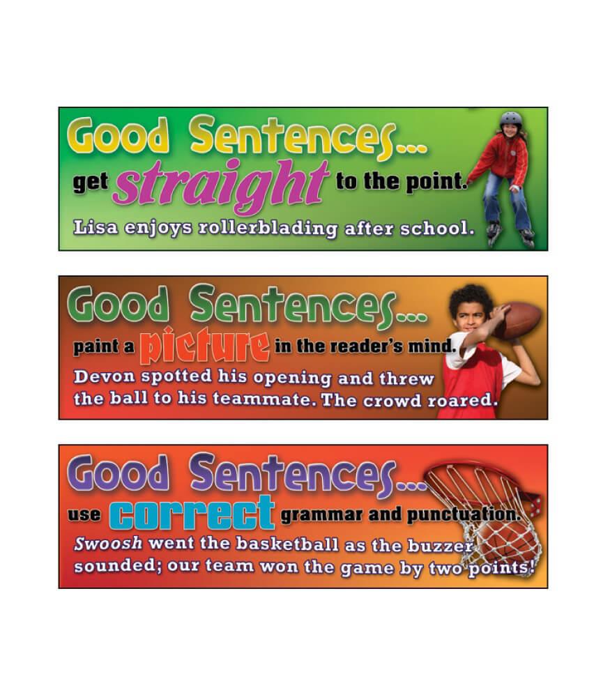 Good Sentences Mini Bulletin Board Set Product Image