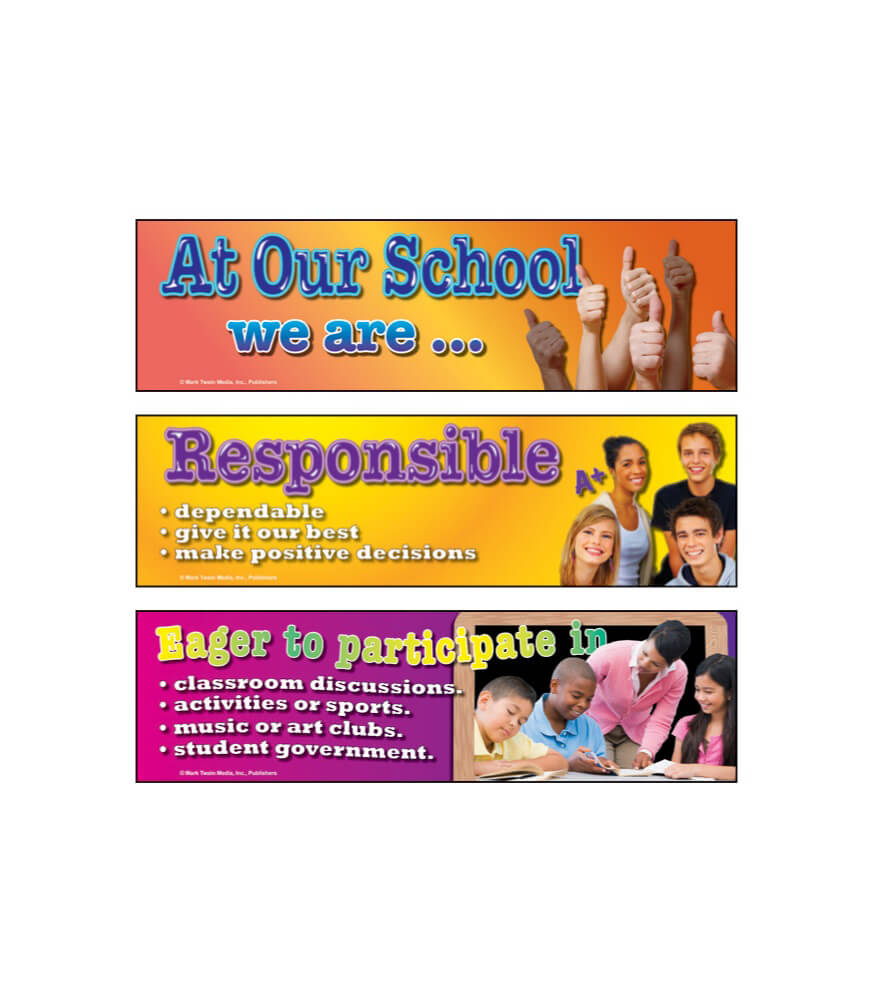 Character: At Our School... Mini Bulletin Board Set Product Image