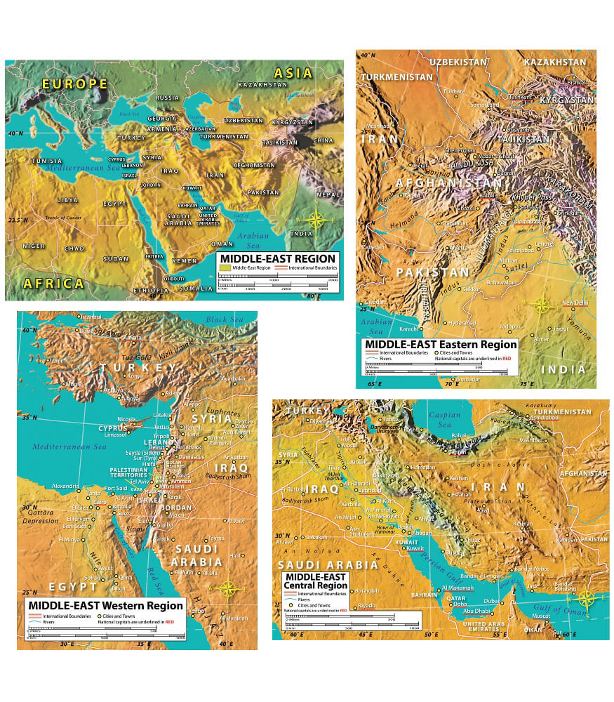 World Geography Bulletin Board Set Product Image
