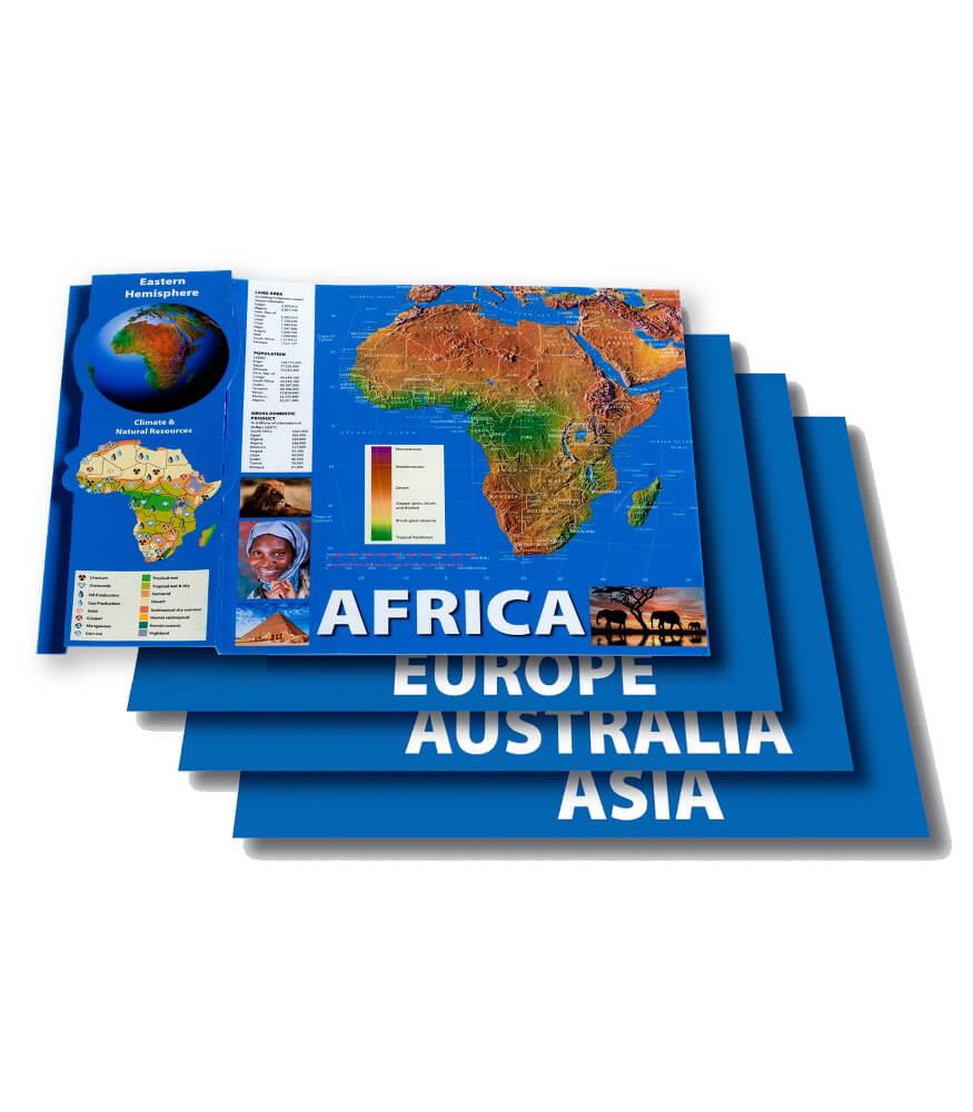 Eastern Hemisphere Maps Bulletin Board Set Product Image