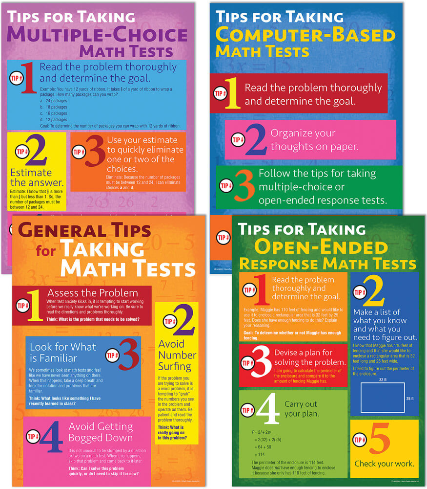 Math Testing Tips Bulletin Board Set Product Image