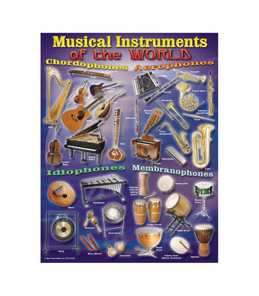 Musical Instruments of the World Chart Product Image