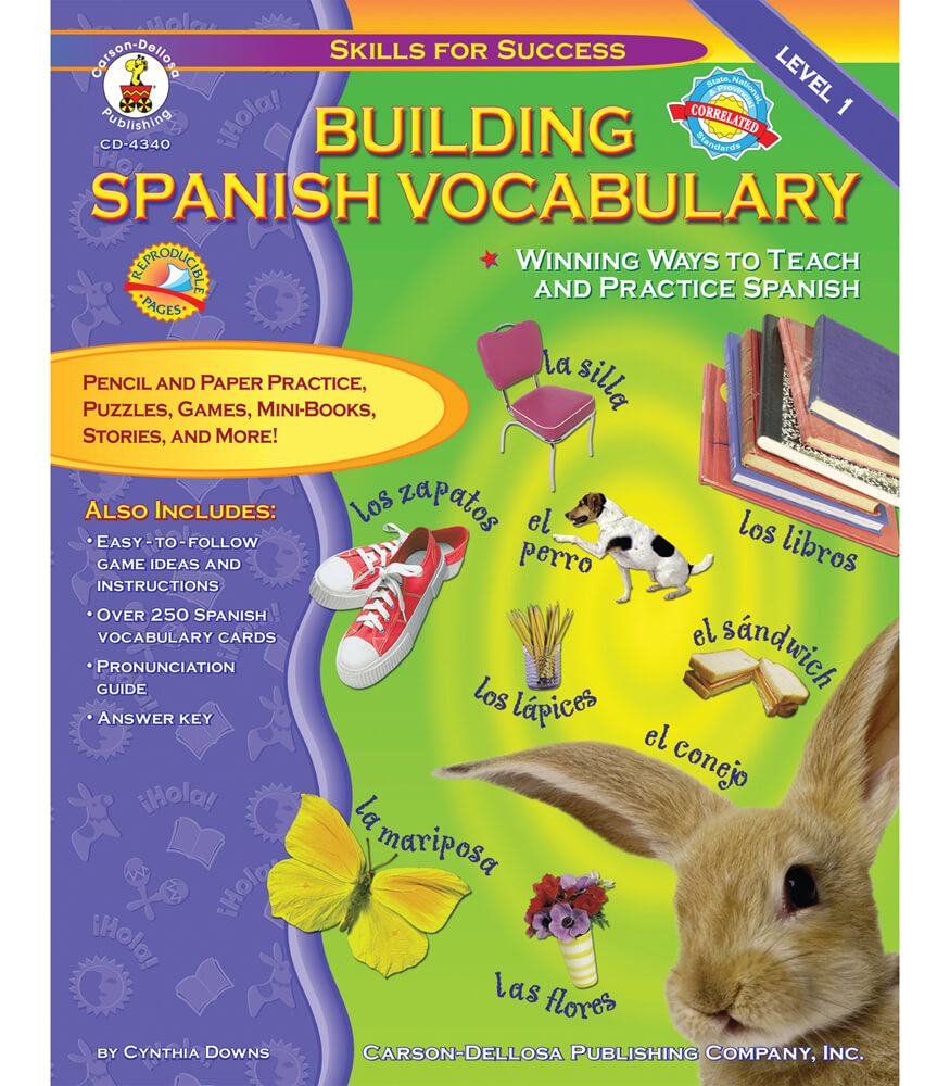 Building Spanish Vocabulary Resource Book Product Image