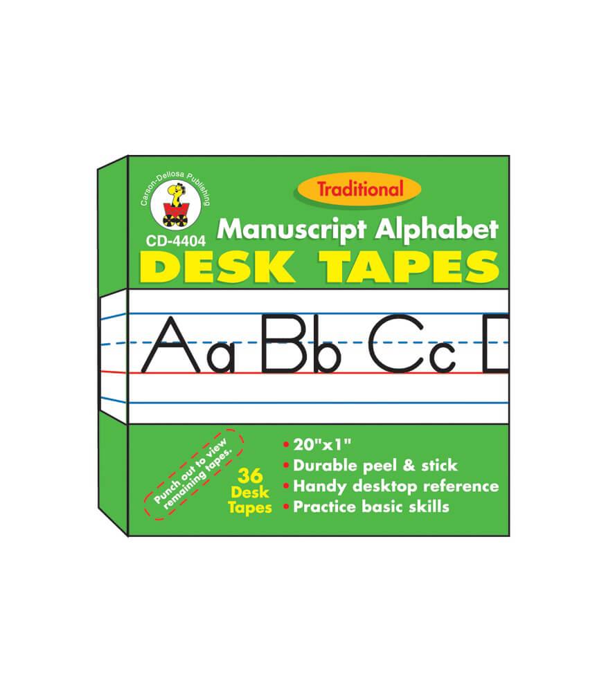 Manuscript Alphabet (Traditional) Desk Tape Product Image