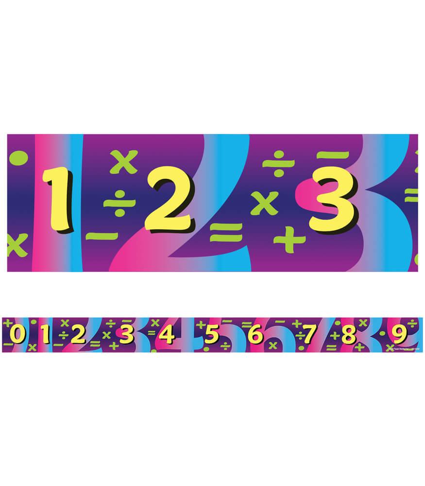 Math Straight Borders Product Image