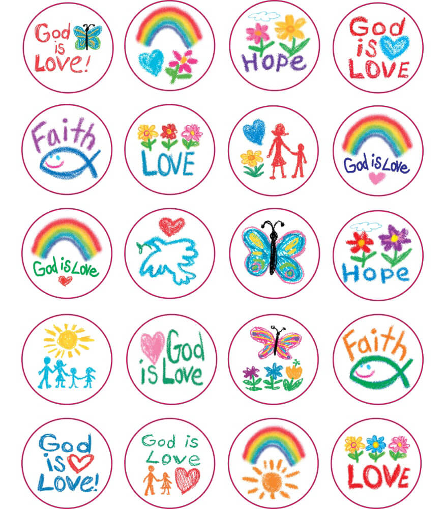 Faith Shape Stickers Product Image