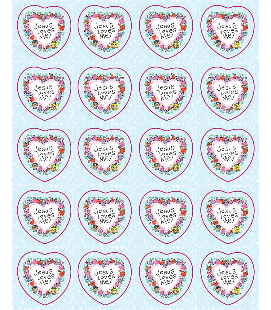 Jesus Loves Me Shape Stickers Product Image