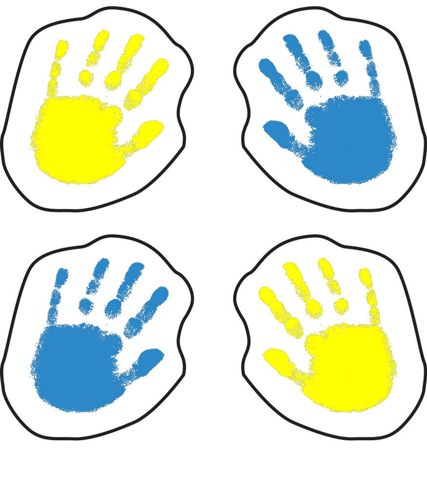 Handprints Shape Stickers Product Image