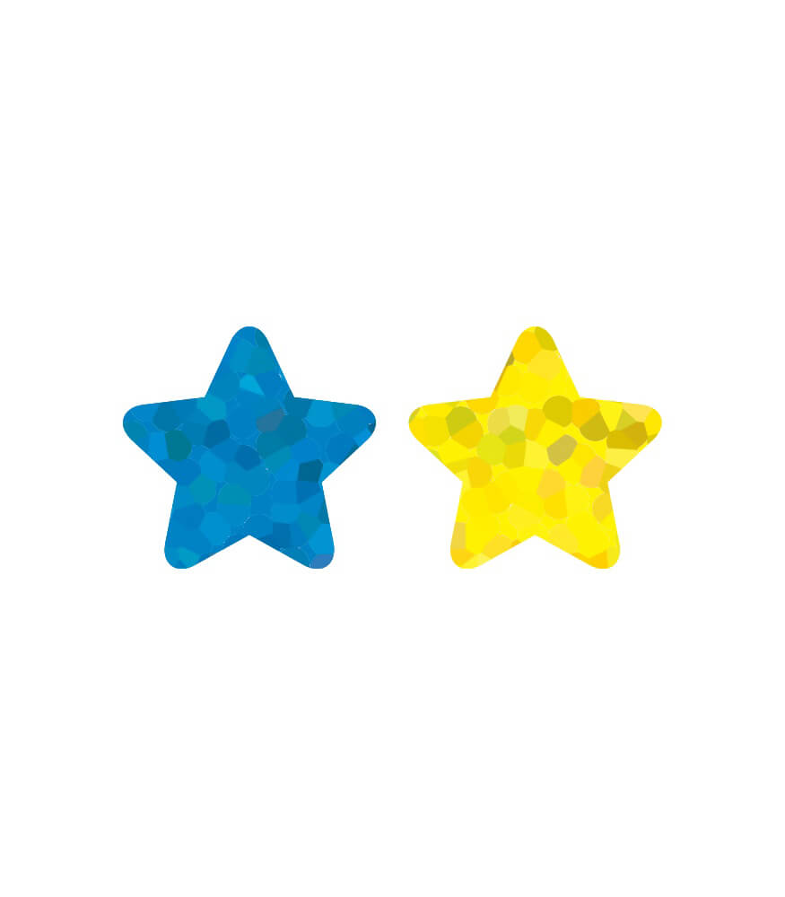 Stars, Multicolor Foil Shape Stickers
