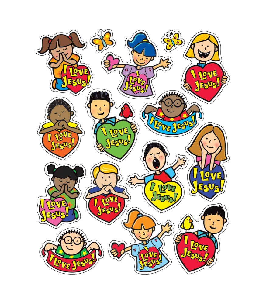 I Love Jesus Shape Stickers Product Image