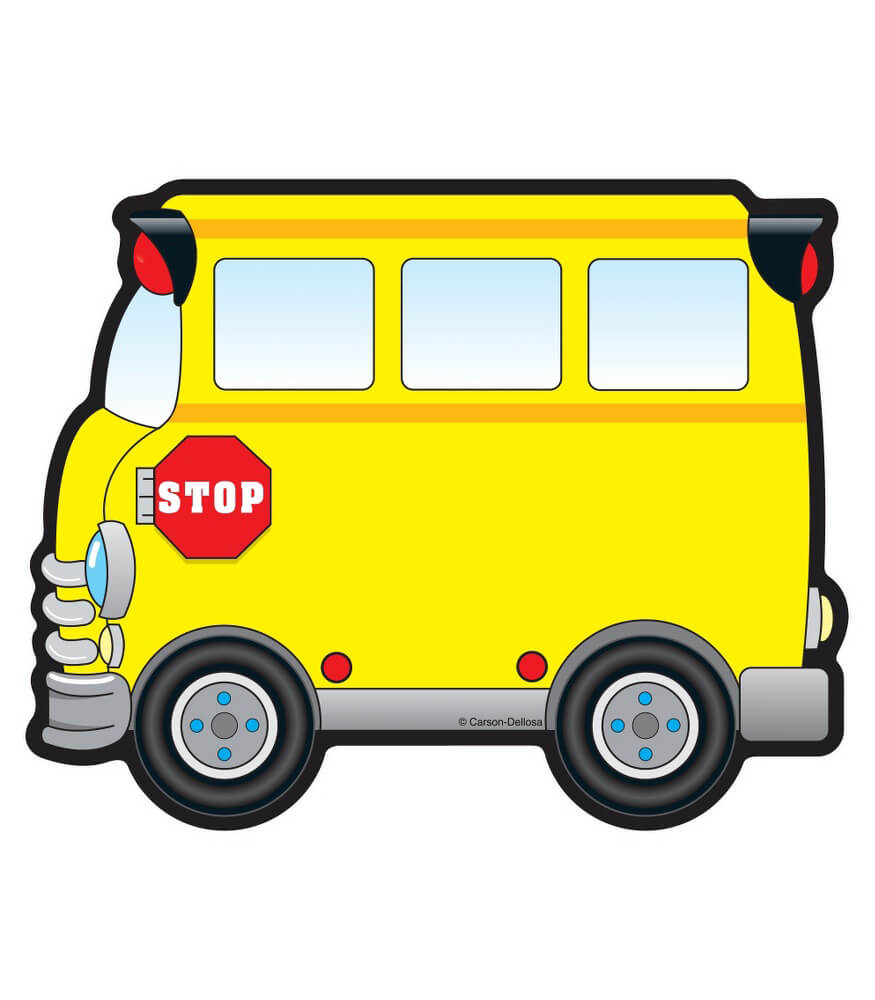 School Buses Cut Outs Grade Pk 8