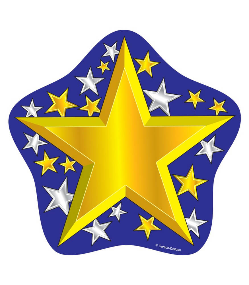 Gold and Silver Stars Cut-Outs Product Image