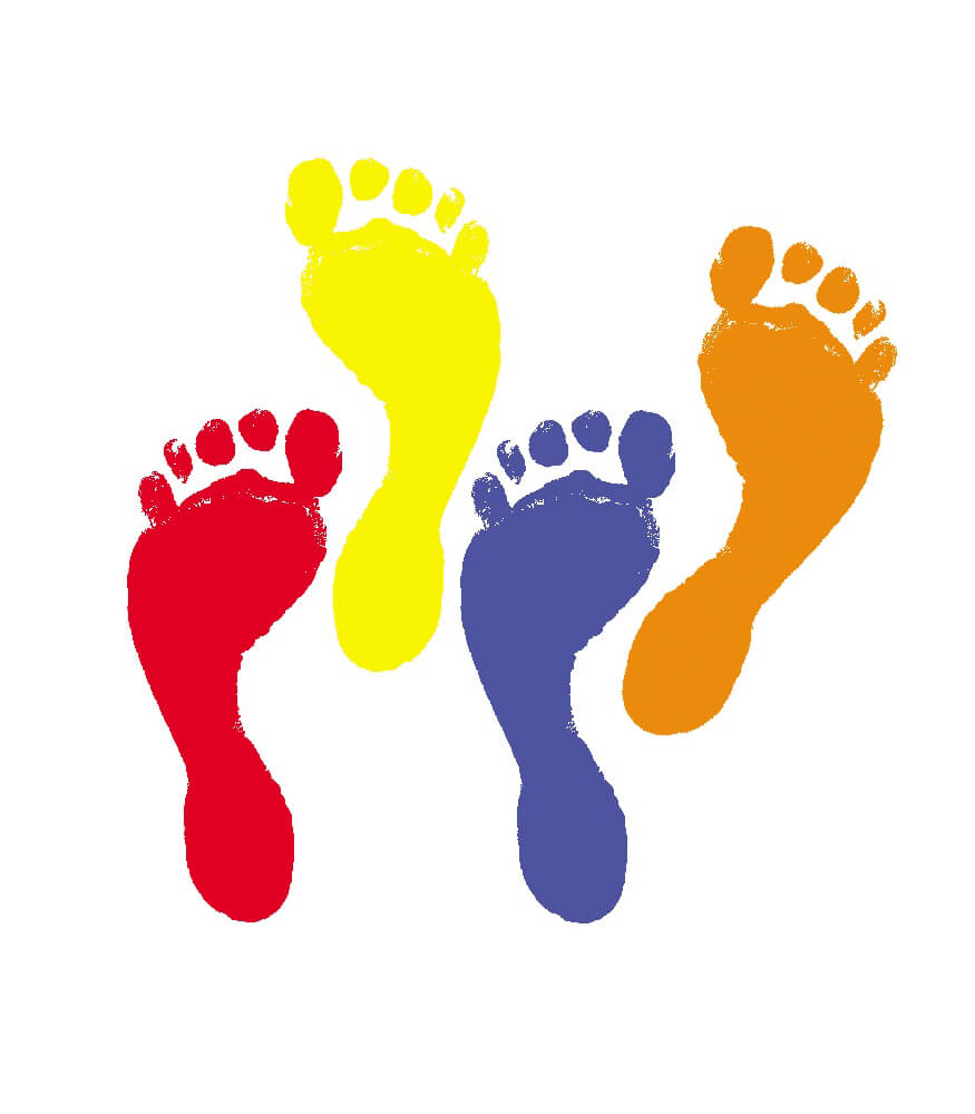 Paint Foot Prints Clip Art