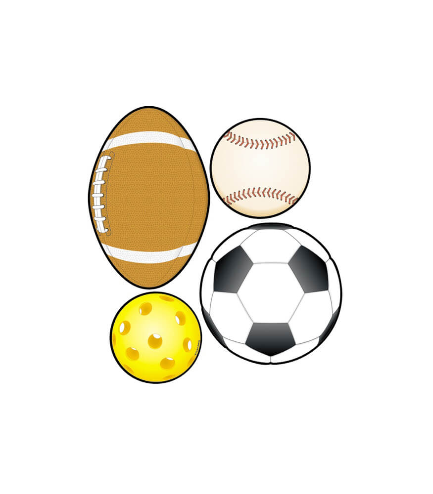 Sports Balls Cut-Outs Product Image