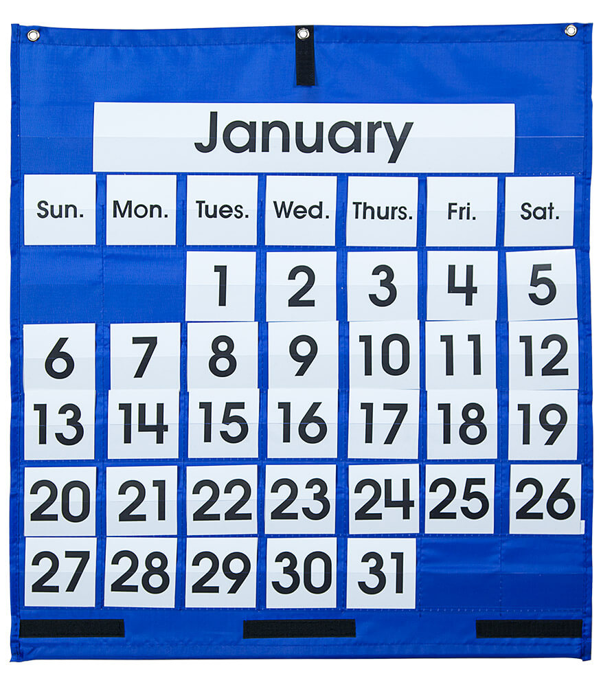 Monthly calendar pocket chart carson dellosa publishing