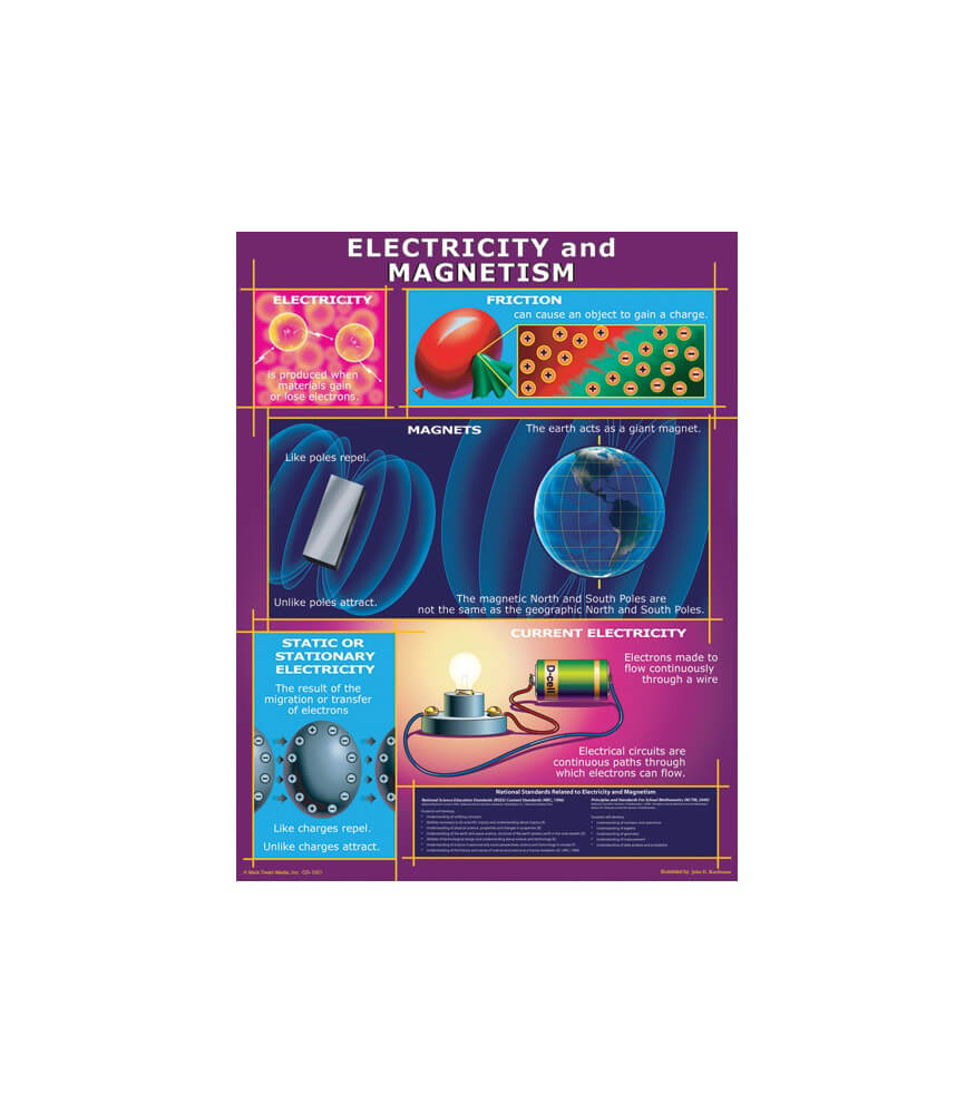 Electricity and Magnetism Chart Product Image