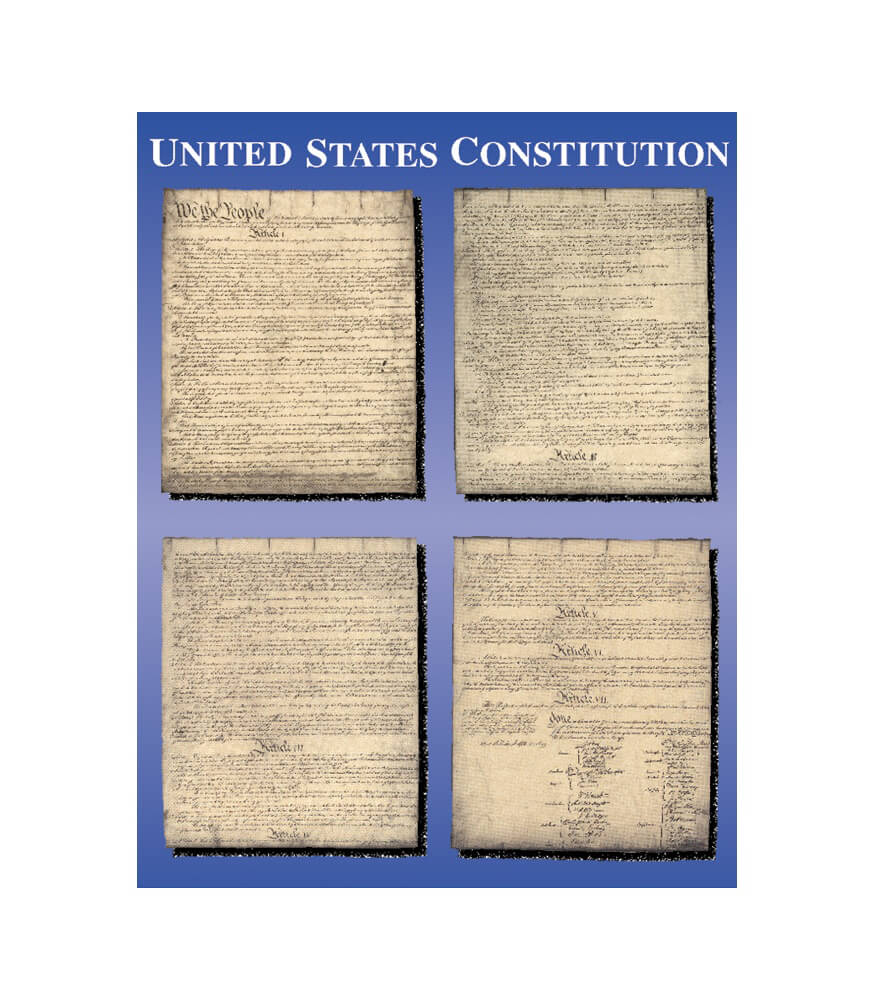United States Constitution Chart Product Image