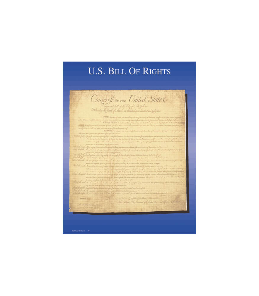 Bill of Rights Chart Product Image
