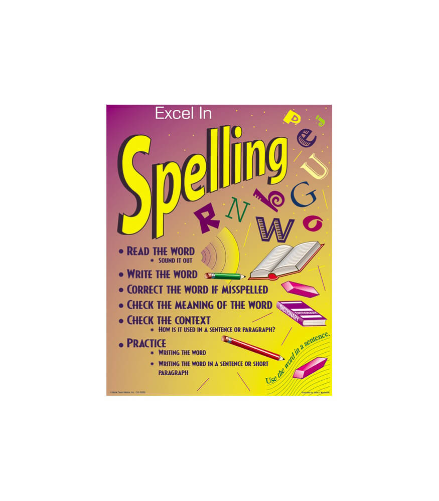 Excel in Spelling Chart Product Image