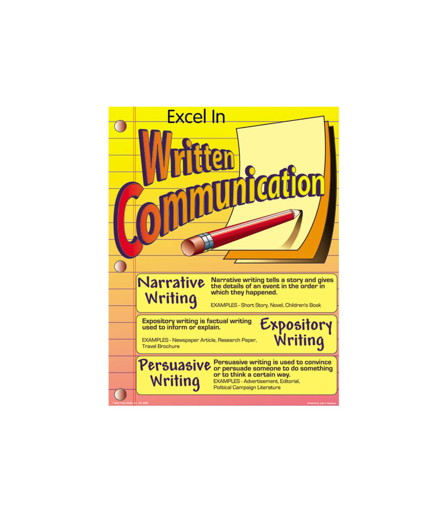 Excel in Written Communication Chart Product Image