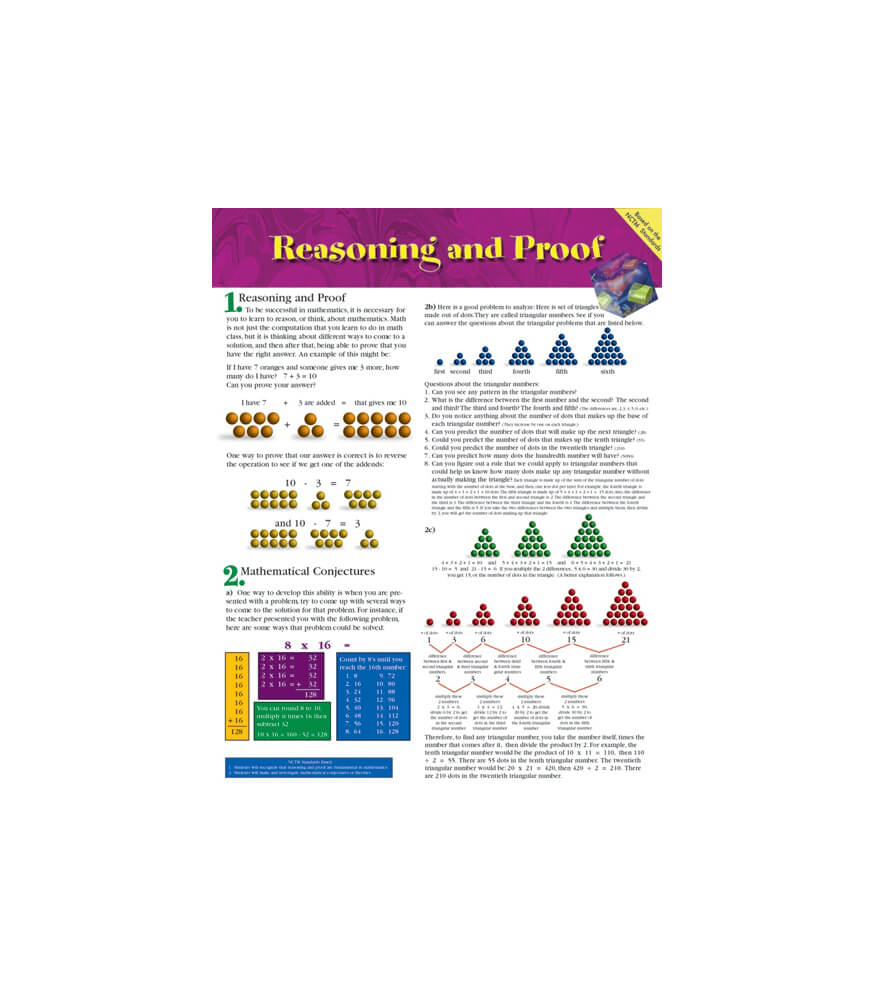 Reasoning and Proof Chart Product Image