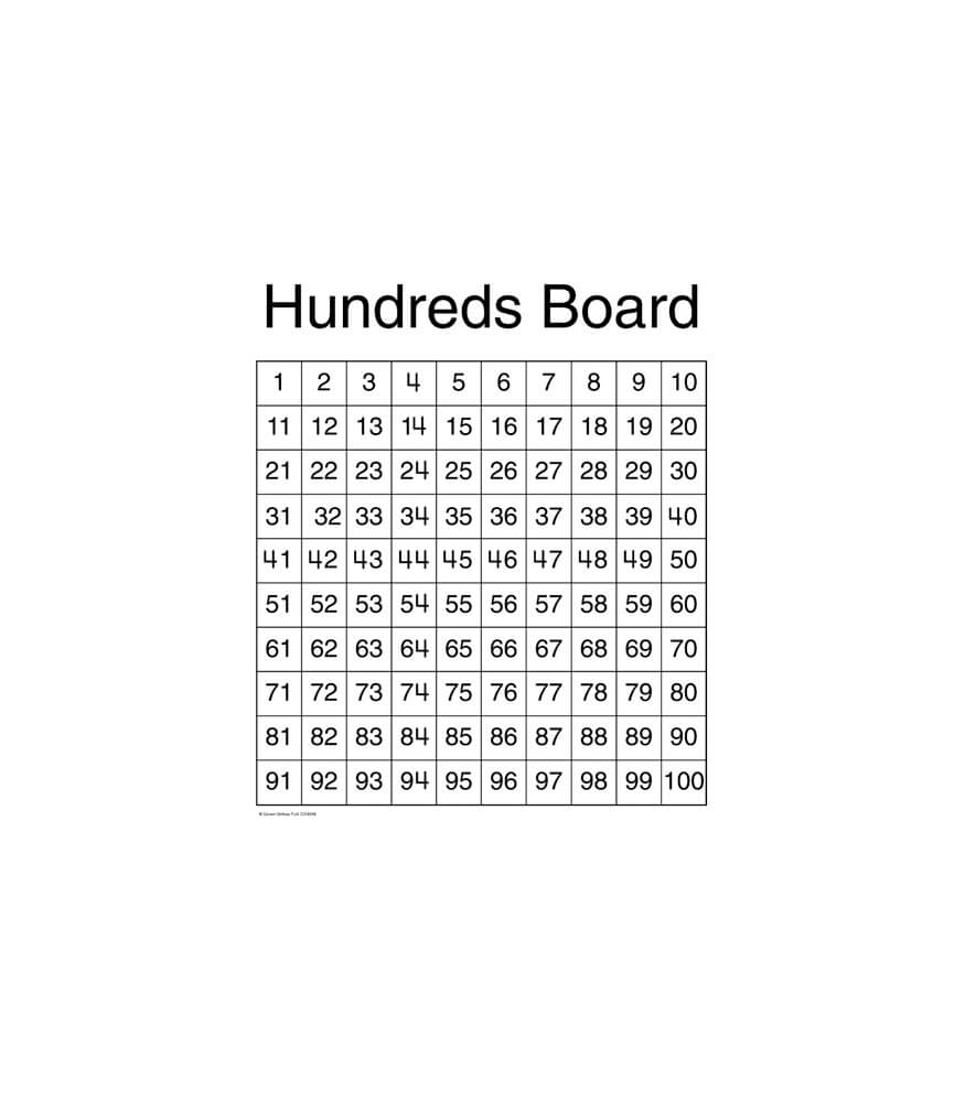 Hundreds Board Chart Product Image