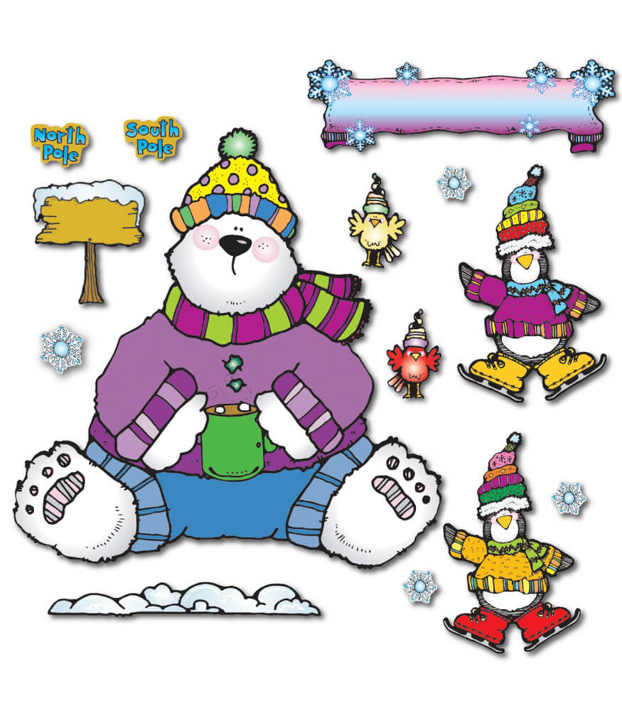 Polar Pals Bulletin Board Set Product Image