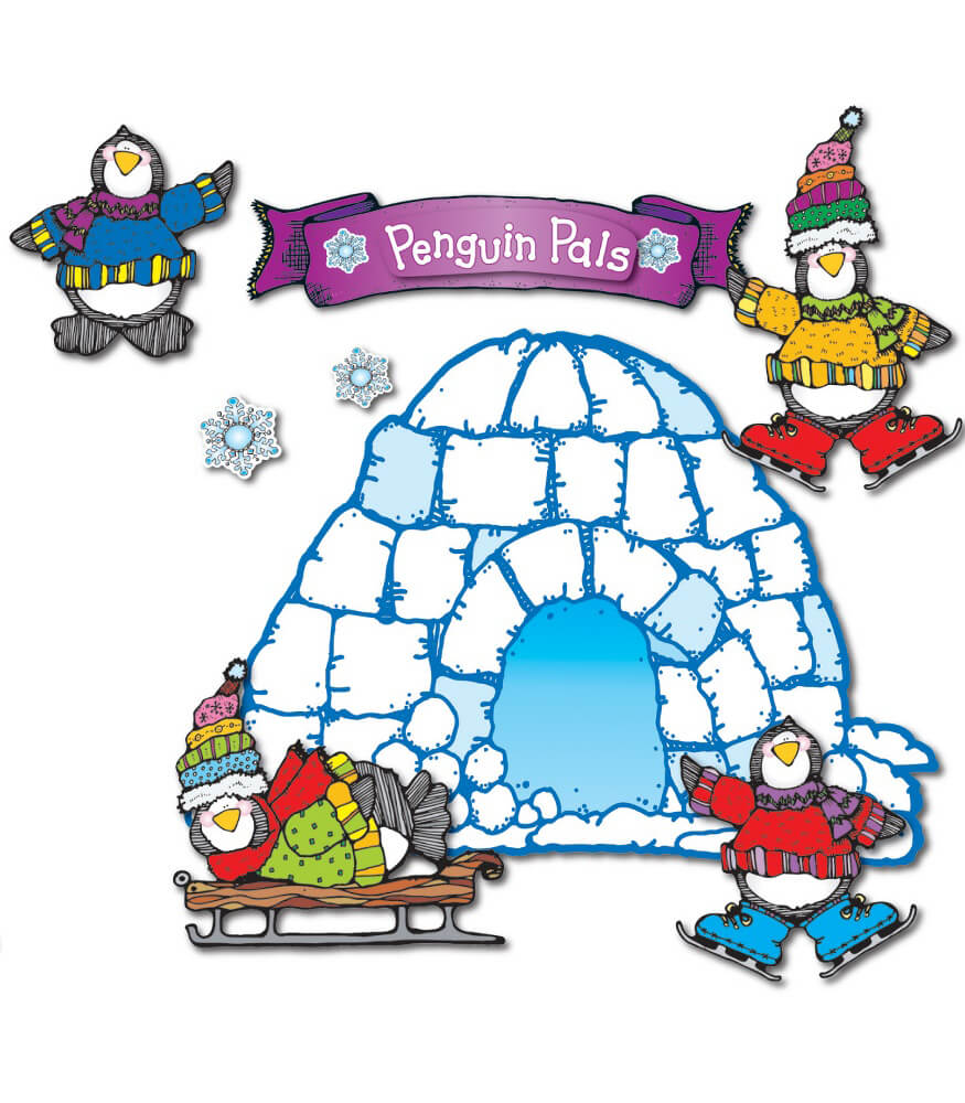 Penguin Pals Bulletin Board Set Product Image