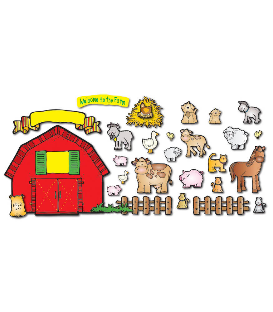 Farm Friends Bulletin Board Set Product Image
