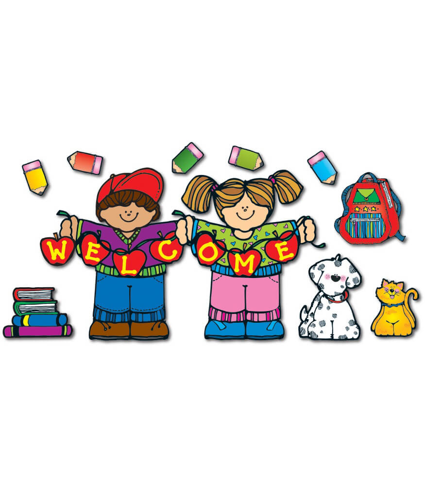 Apple Kids Welcome Bulletin Board Set Product Image