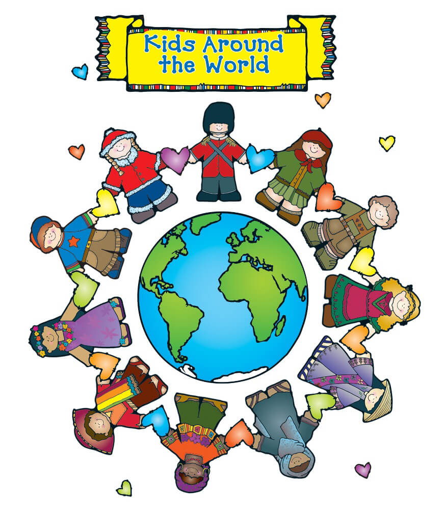 Kids Around the World Bulletin Board Set Product Image