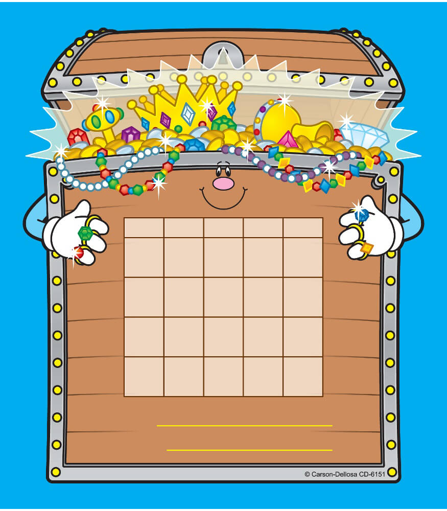 treasure chest mini incentive charts grade pk 5 teacher guided reading clipart teacher guided reading clipart