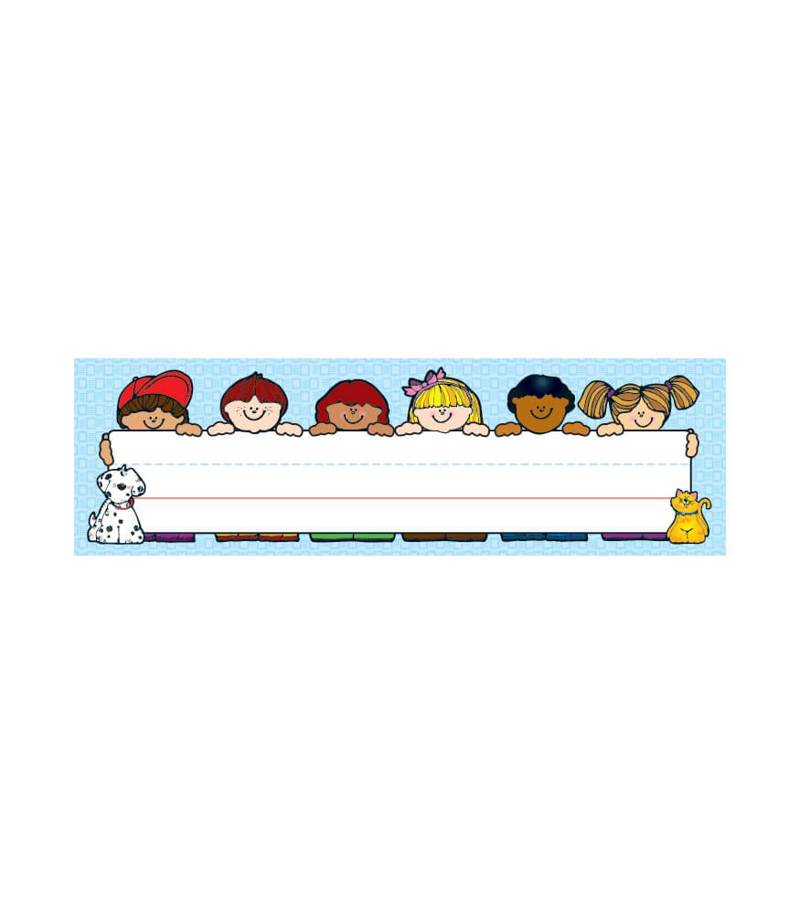 Elementary Classroom Clipart ~ Kids nameplates grade pk