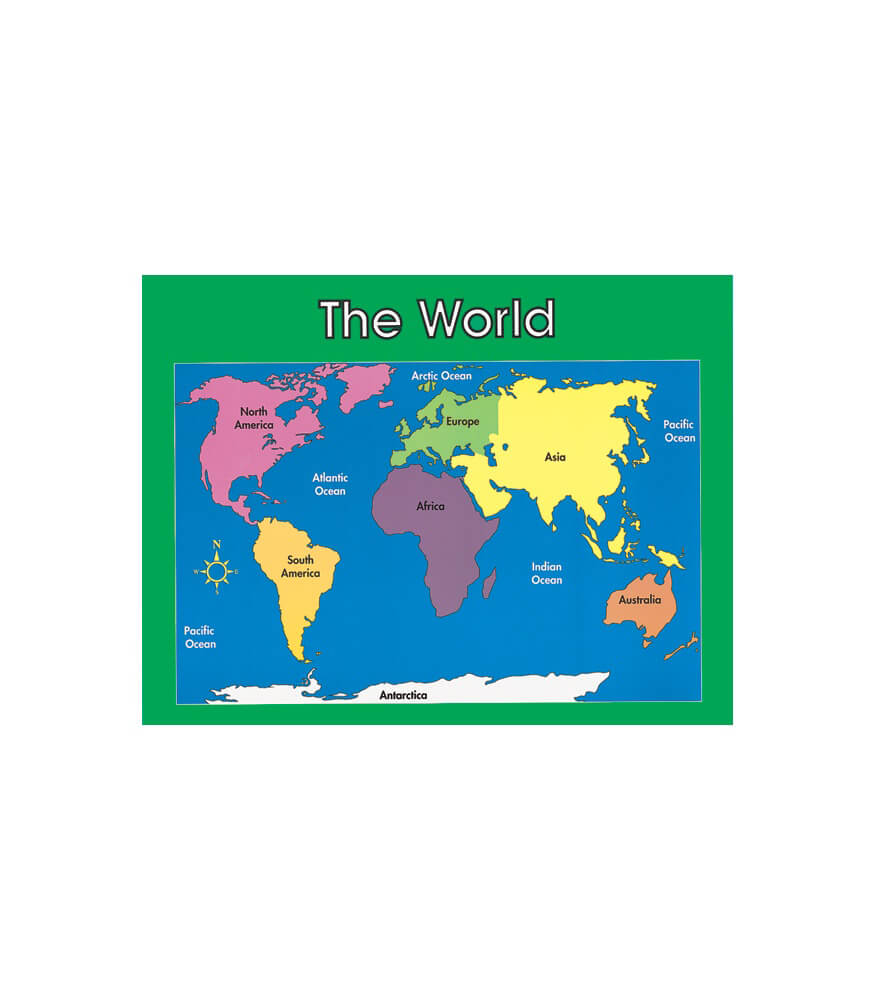 World Map Chart Product Image