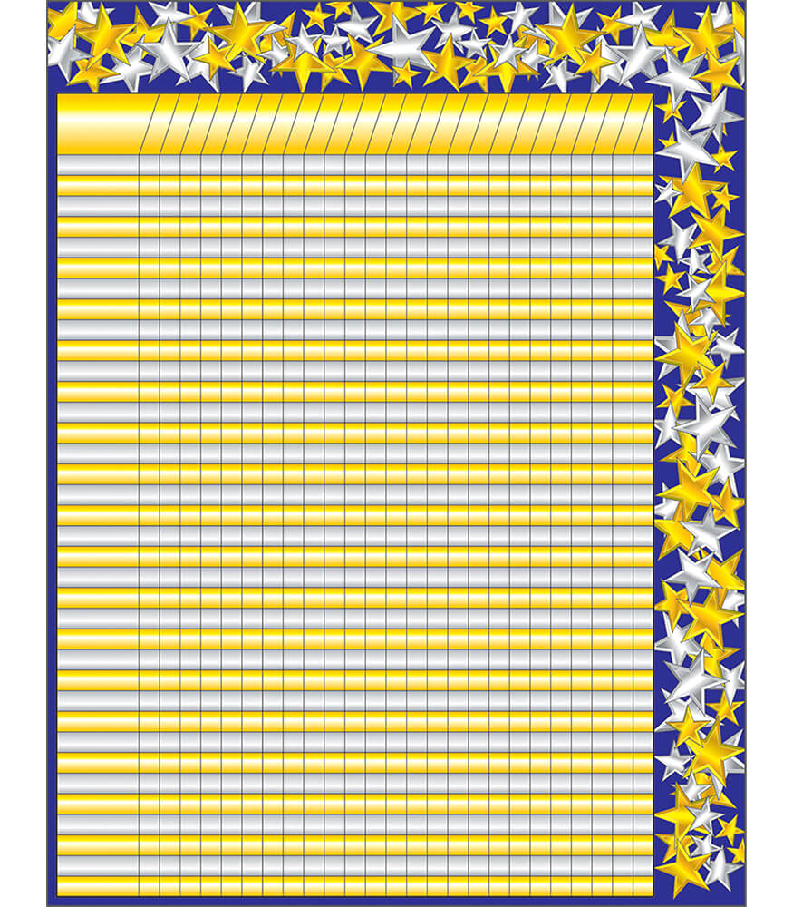 Gold and Silver Stars Incentive Chart Product Image