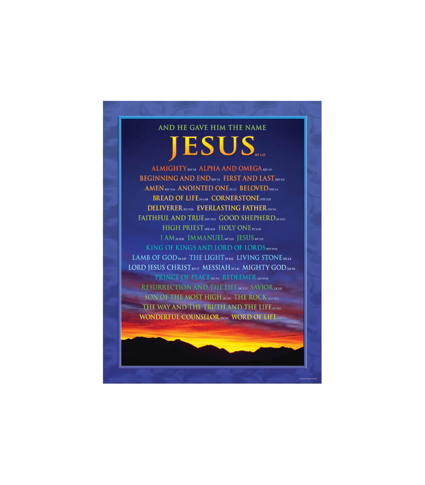 Names of Jesus Chart Product Image