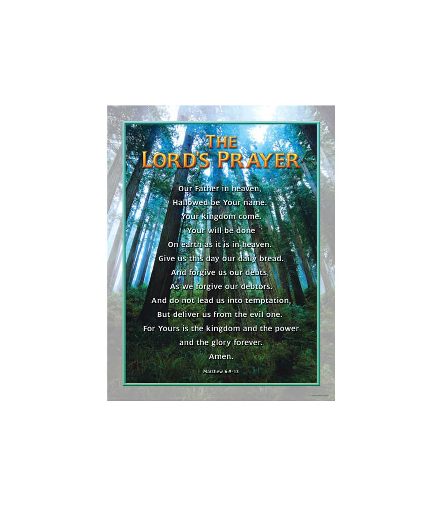 The Lord's Prayer Chart Product Image