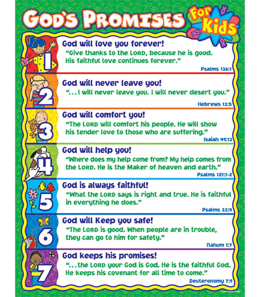 Godu0027s Promises For Kids Chart