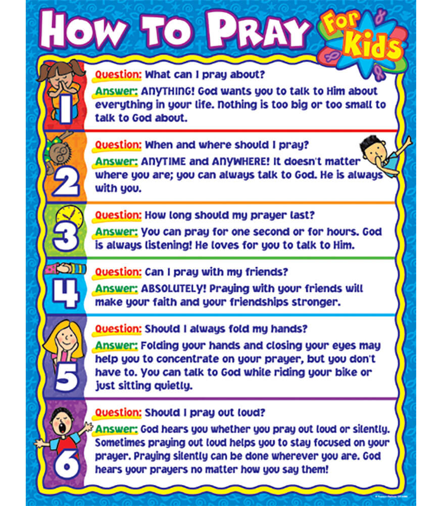 How to Pray for Kids Chart Product Image