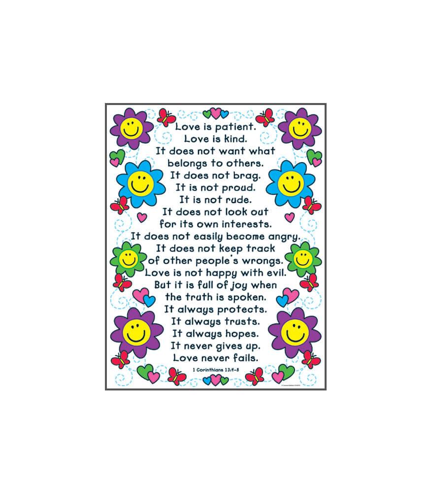 The Love Verses 1 Corinthians 13:4-8 Chart Product Image