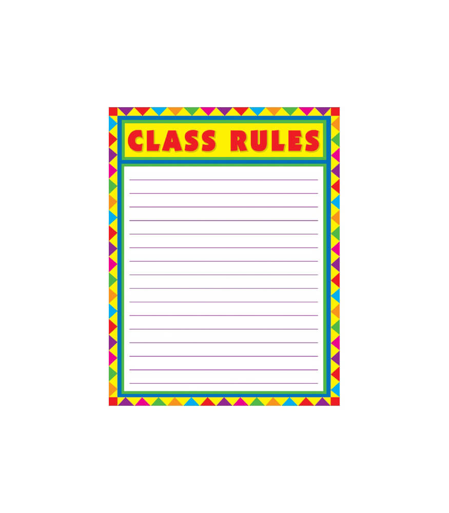 Class Rules, Blank Chart Product Image