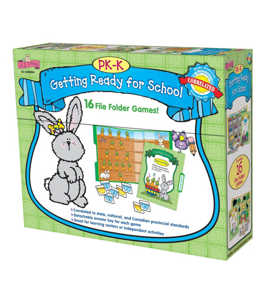 Getting Ready for School File Folder Game Product Image