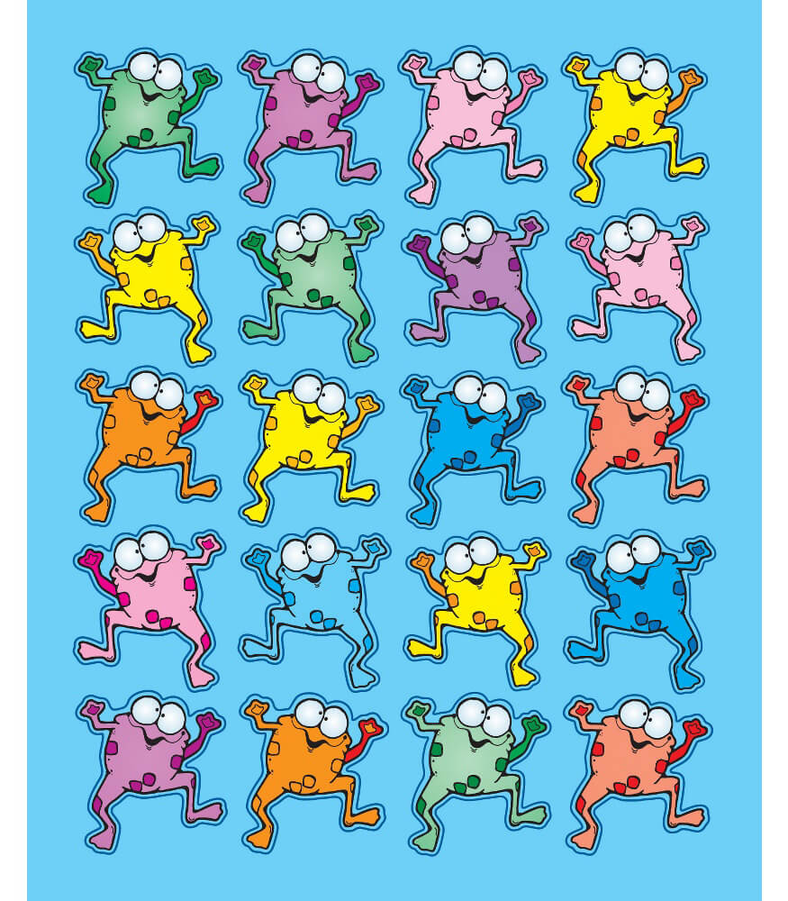Colorful Froggies Shape Stickers Product Image